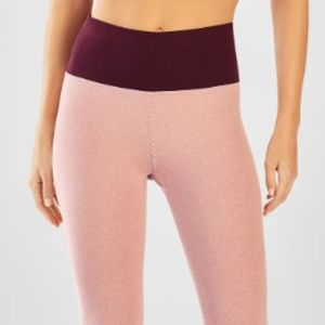 Fabletics High Waisted Statement Crop Leggings NWT